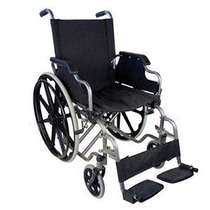 Silla de ruedas compatible hoverboard plegable autopropulsable negro Giralda Mobiclinic