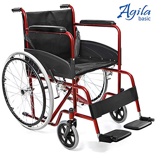 AIESI Silla de Ruedas plegable manual discapacitados mayores BASIC para hoverboard
