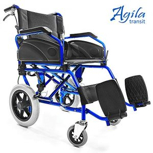 Silla de ruedas manual AESI para discapacitados y mayores AGILA TRANSIT