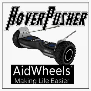 AidWheels HoverPusher para Silla de ruedas Breezy Premium reclinable rueda grande Sunrise Medical