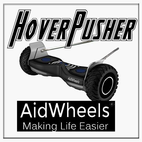 AidWheels HoverPusher para Silla de ruedas plegable Breezy 250 rueda grande