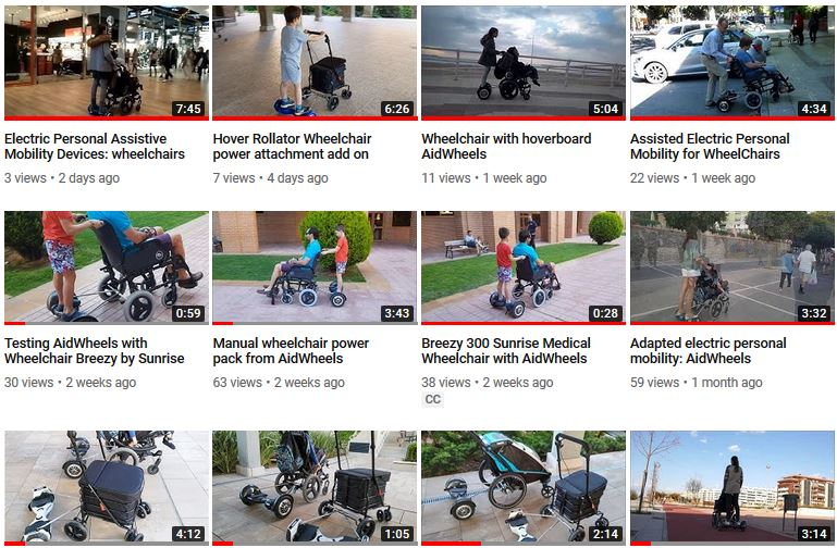 hoverboard silla ruedas rollator