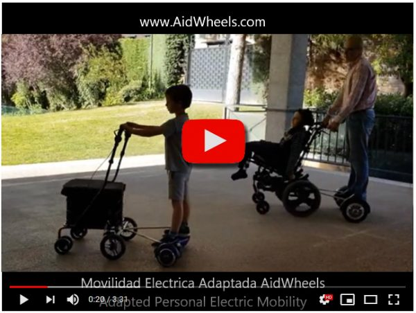 Asistente electrico paseo carrito bebes BeBe-mobile HoverPusher AidWheels