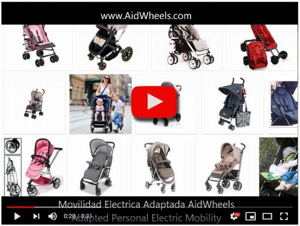 Ayuda electrica paseo silla de bebe Libélulle HoverPusher AidWheels