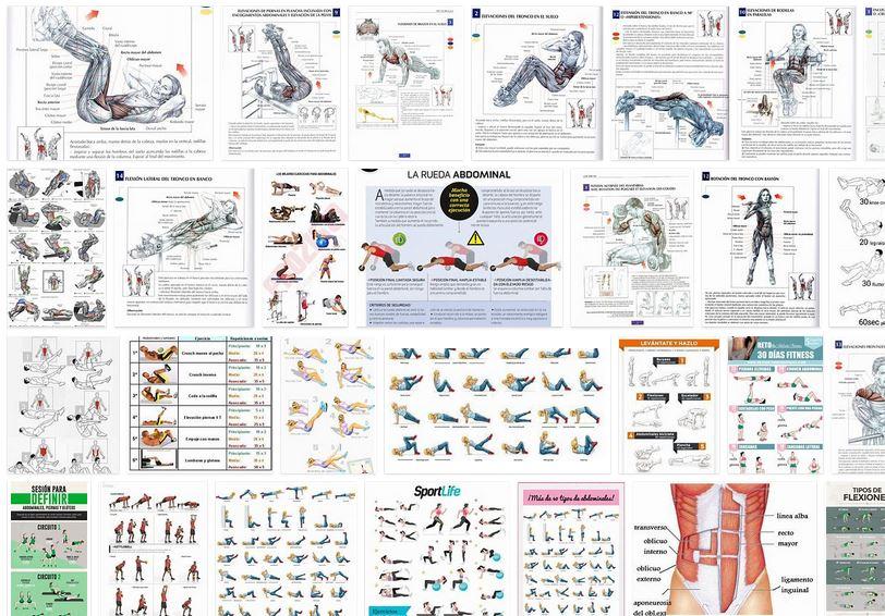 Ejercicios entrenamiento para musculacion abdominales