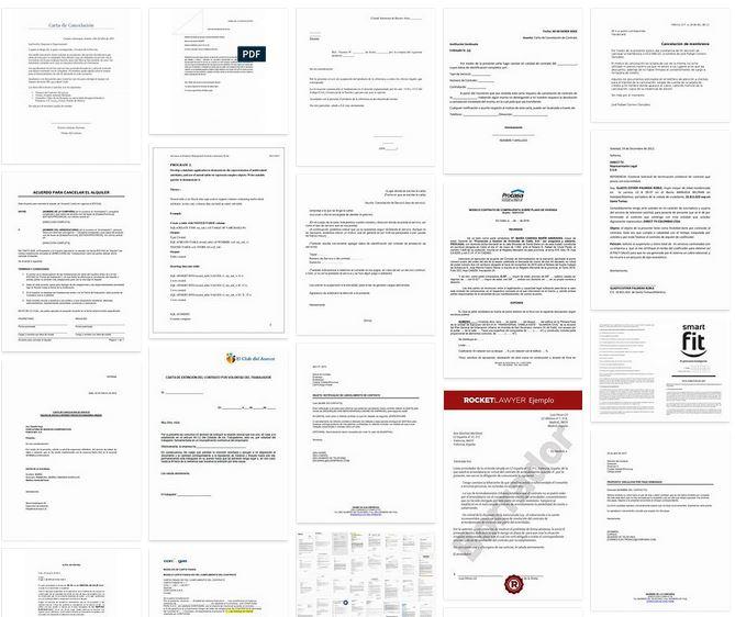 Modelo carta cancelar contrato suscripcion
