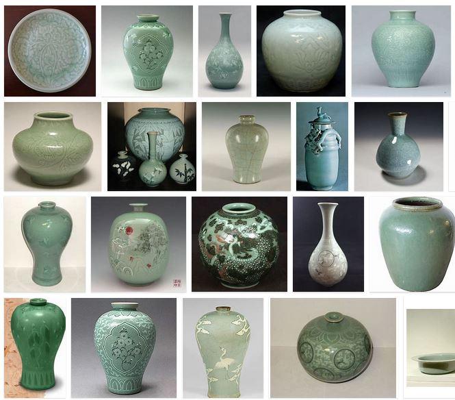 ceramica celadon jade corea