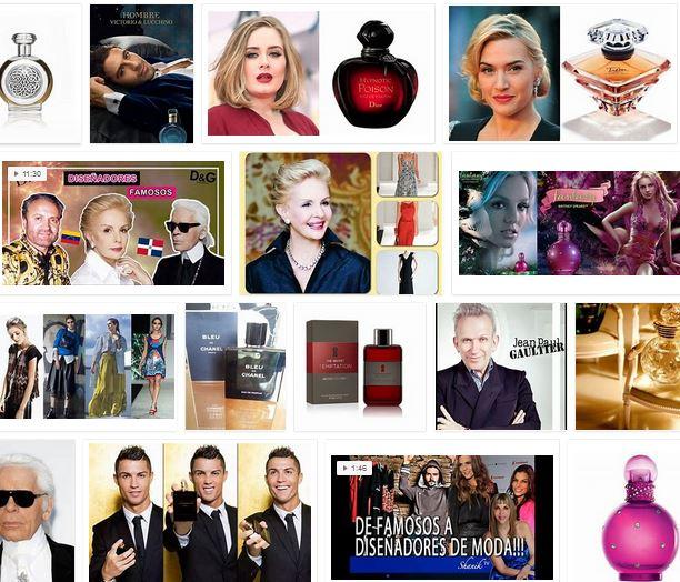 diseñadores famosos de perfumes