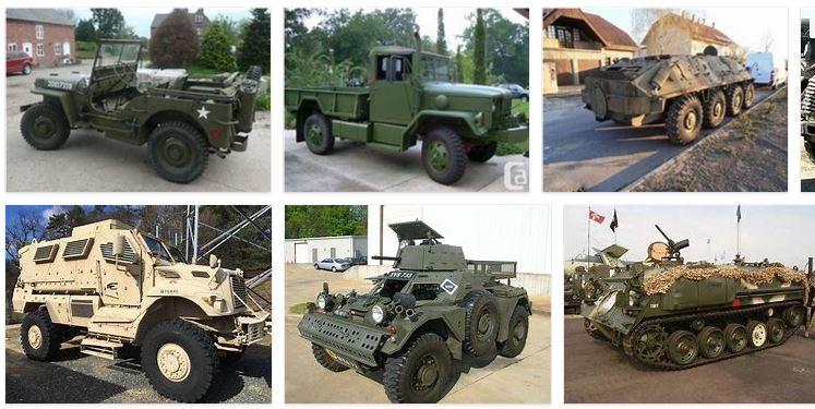 venta de vehiculos militares
