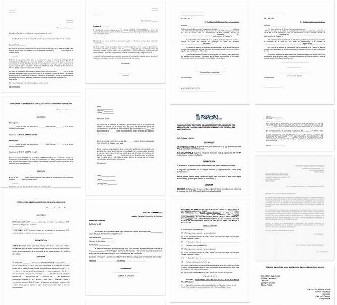 Modelo de carta de cancelación de contrato de arrendamiento