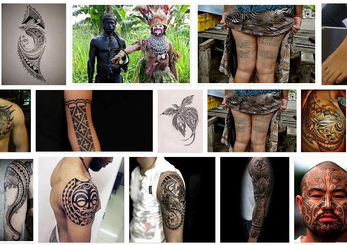 tatuajes tribales de nueva guinea