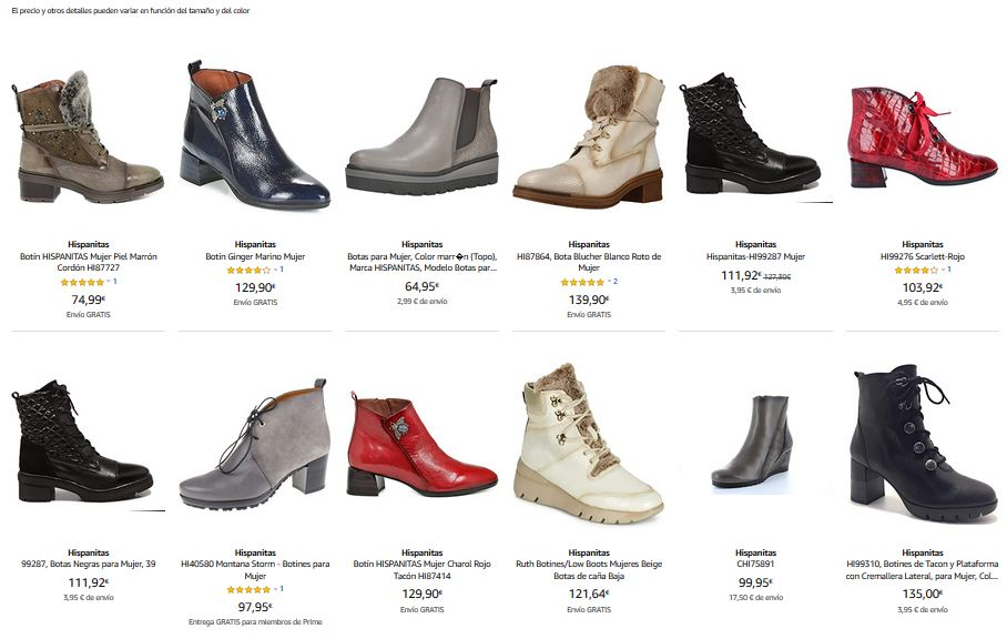 zapatos hispanitas mujer