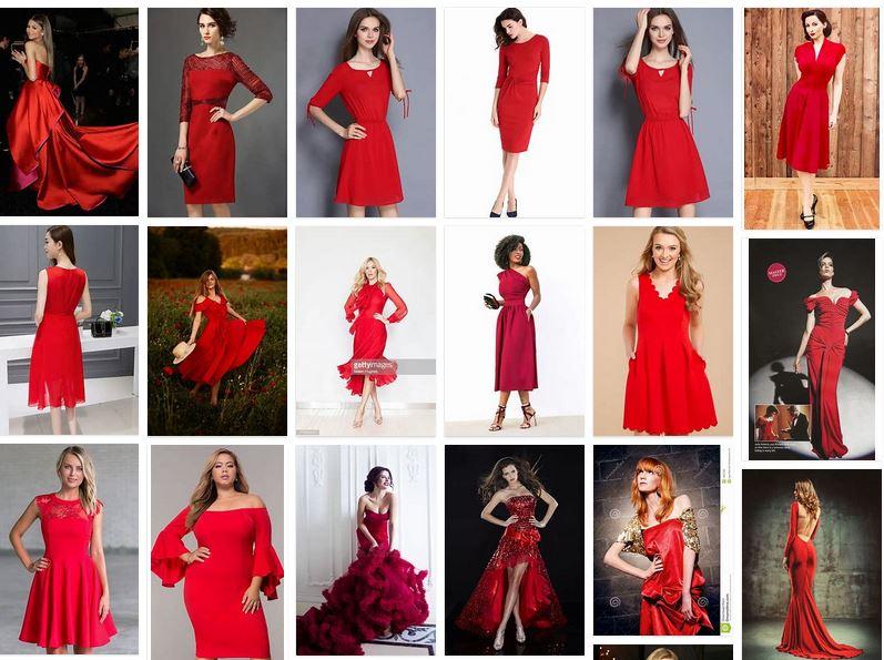 fotos vestidos rojos mujer