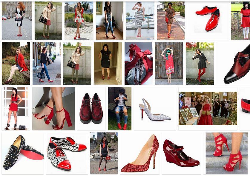 vestido rojo zapatos rojos