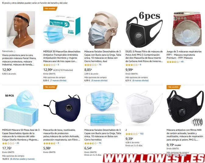 donde comprar mascarillas online