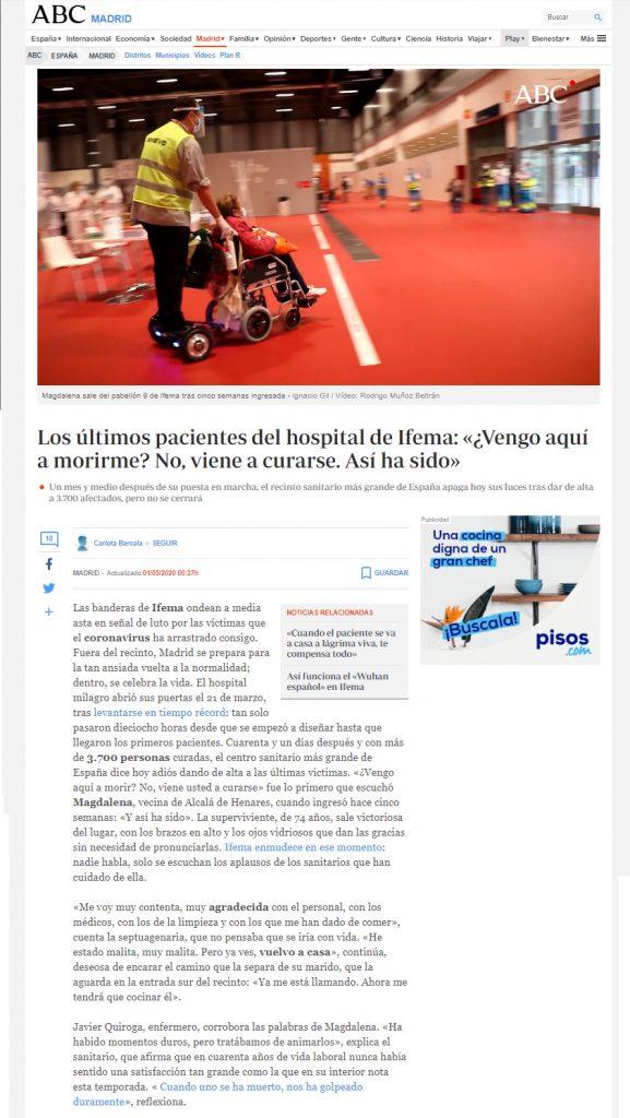 sillas de ruedas ifema hospital invento