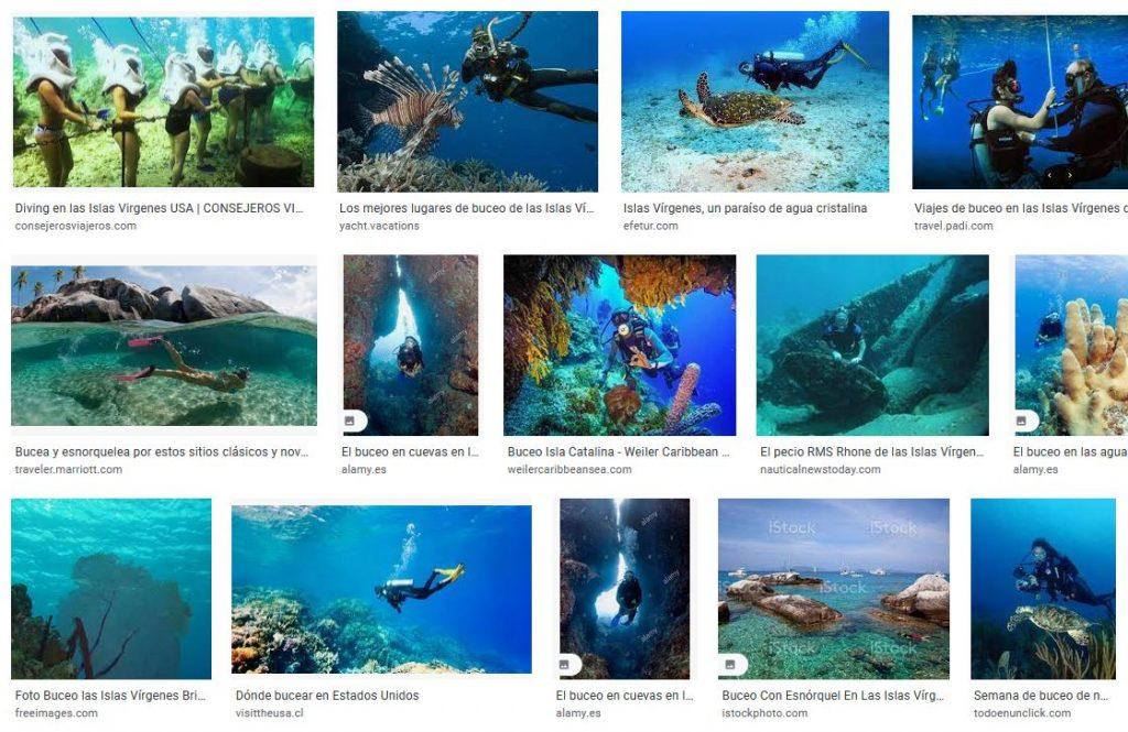 Islas Virgenes si te gusta bucear en tu viaje de vacaciones
