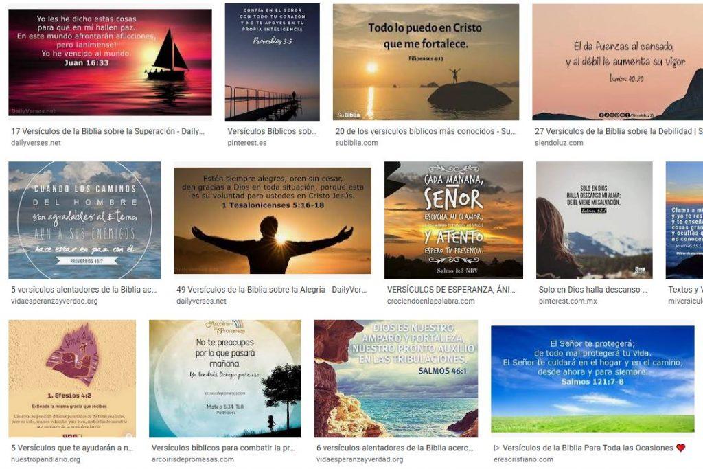 Versículos bíblicos sobre la fe